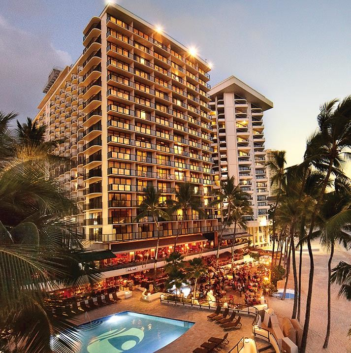 Outrigger Waikiki Beach Resort, Honolulu Exterior View