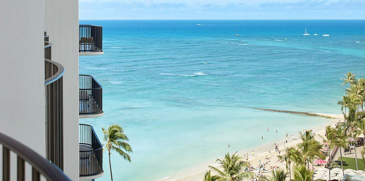 Partial View From Outrigger Waikiki Beach Resort, Honolulu